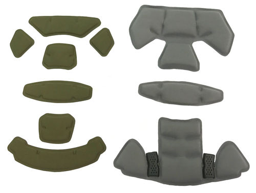 UaRms KRONA modular padding system for ballistic helmets