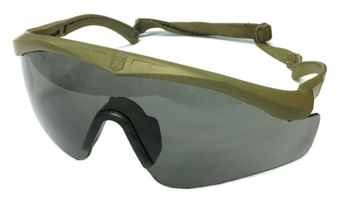 Revision Sawfly TXM protective eyewear, with 3 different lenses and elastic securing strap, surplus