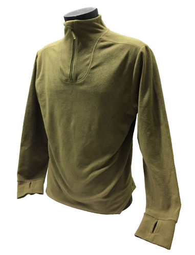 British PCS clothing system thermal layer shirt, microfleece, brown, surplus