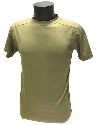 British army PCS clothing system antistatic, moisture wicking T-shirt, olive green, used