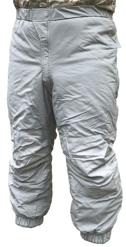 "US Army ECWCS Gen3 Level 7 extreme cold weather trousers , with ""Primaloft Sport"" insulation, grey"