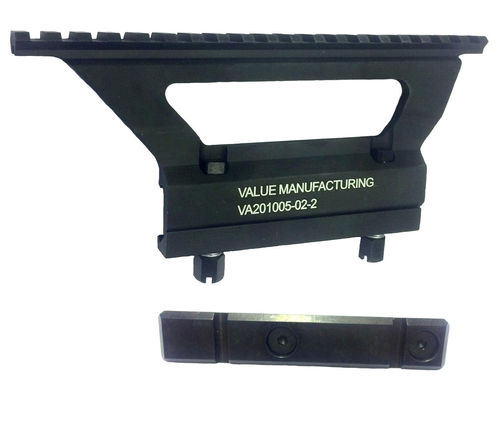 Value Manufacturing Picatinny optics mount and side rail for stamped receiver AK's, package deal