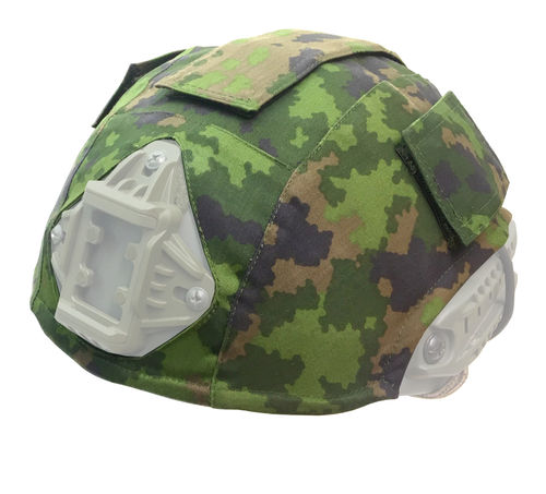 WarGear™ Helmet Cover, High Cut, M05 camouflage pattern, with removable velcro covers