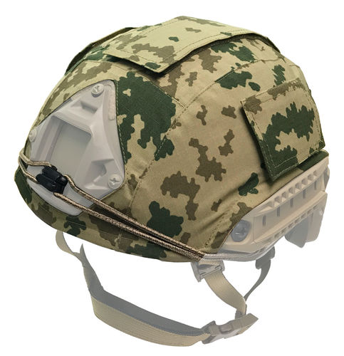 WarGear™ Helmet Cover, High Cut, M04/M05 DESERT Camouflage Pattern, with removable velcro covers