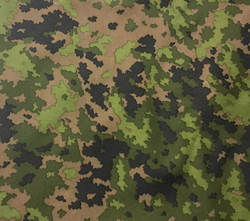 Foxa Oy Foxdura 500D equipment fabric, M05 camouflage, sold by the metre.