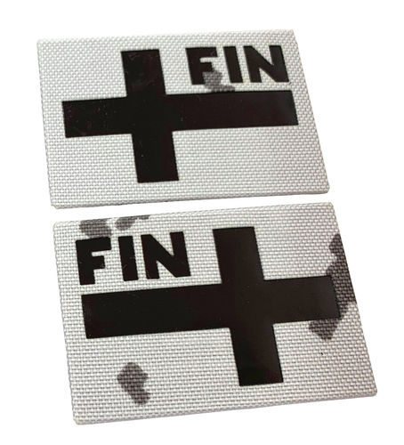 WarGear™ IR Flag patch, Finland, M05 Snow camouflage, IR-reflective, lasercut