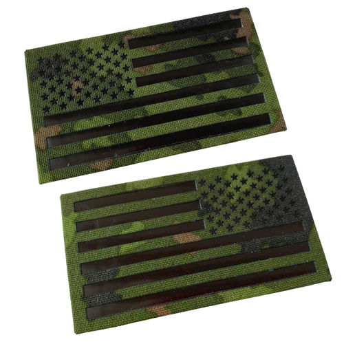 WarGear™ IR Flag patch, USA, M05 Camouflage, IR-reflective, lasercut