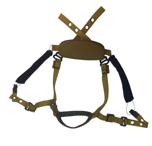 UaRms DISK 2 strap system with cam lock adjustment, for ballistic helmets, left-hand users